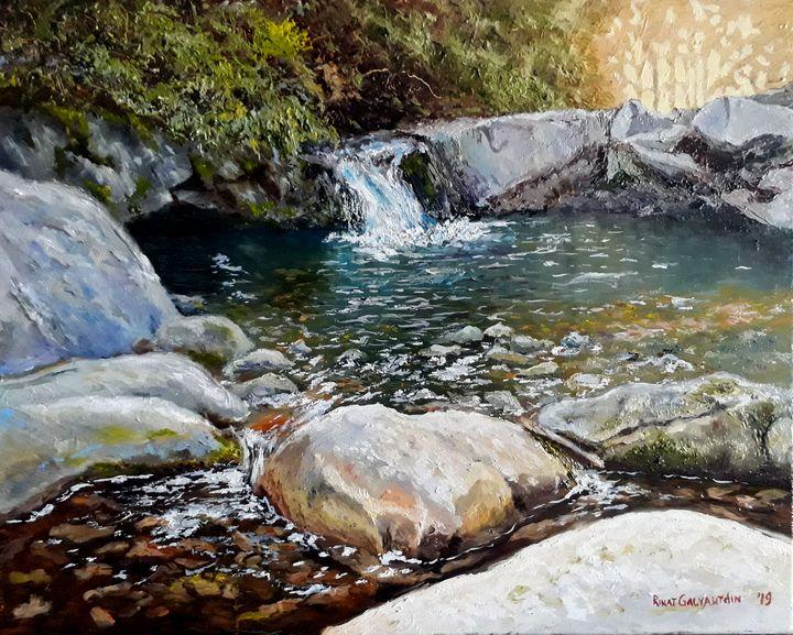 Rocks and Waterfall - Rinat Galyautdinov