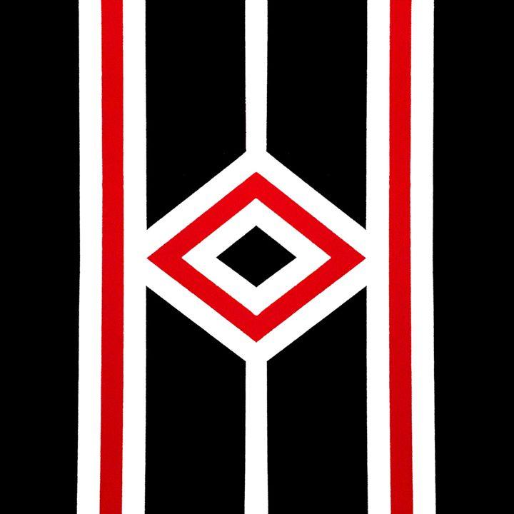 Diamonds and Stripes One - J.R. DeSigNs, LLC