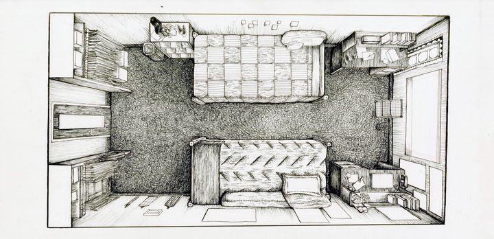 Dorm Room in Ink - Lauren's Craft
