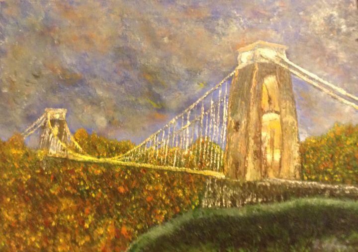 illumination of Brunel's bridge - Danny Jefferis Art
