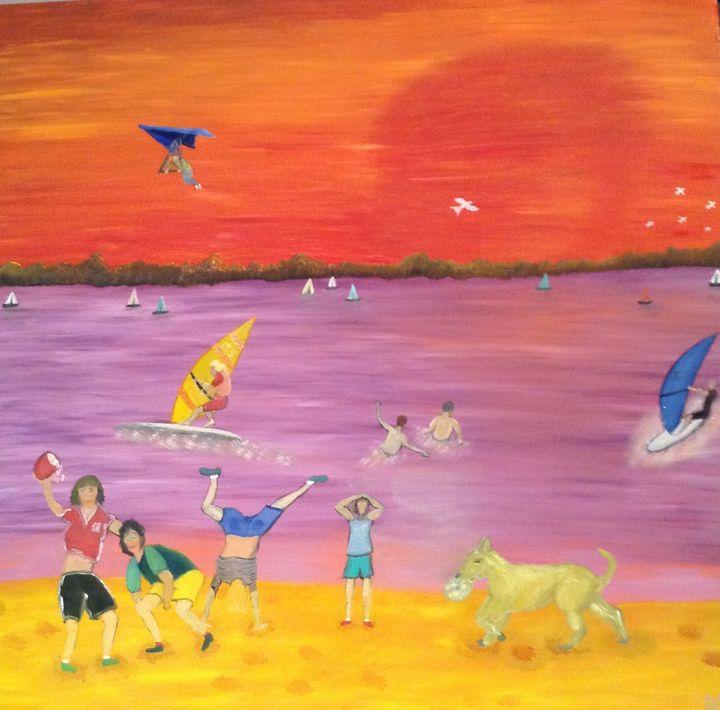 Fun on the beach - Danny Jefferis Art