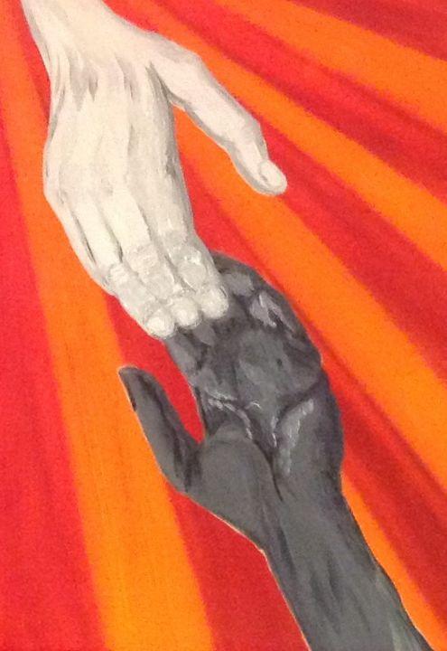 Love,peace togetherness - Danny Jefferis Art