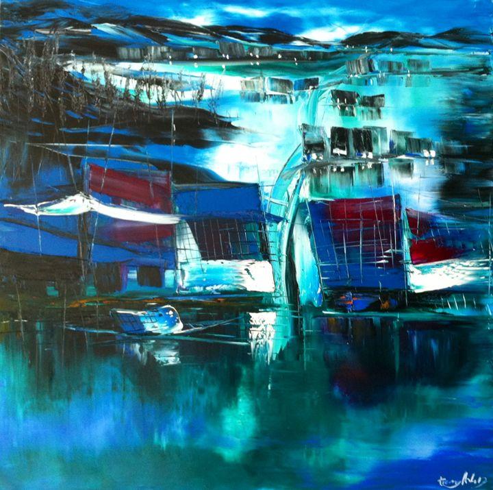 Fishing vilage in moonlight - Arthouse Vietnam Galleries