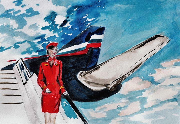 Flight Attendant - TattyArty
