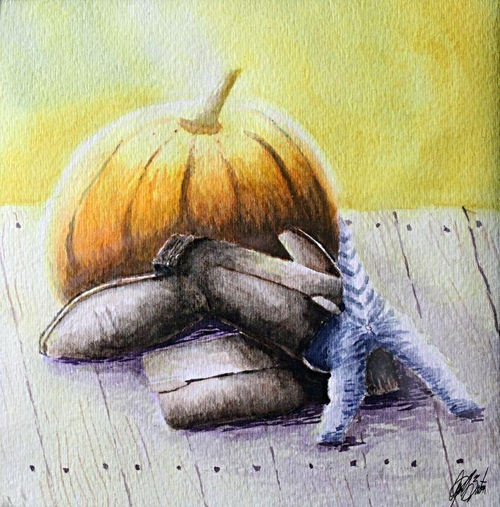 Impish Kitten - Al Burton Art