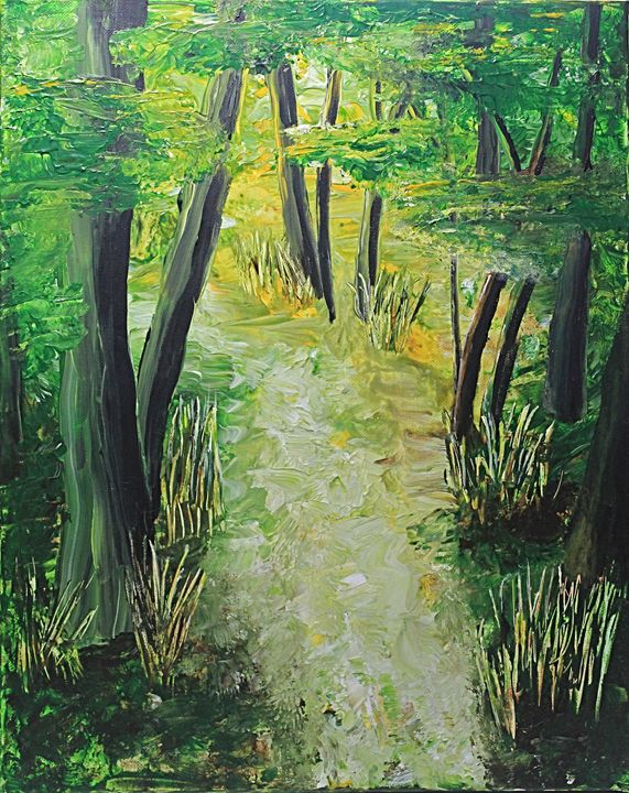 Spring Path - Al Burton Art