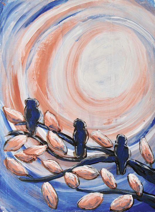 Three Blue - Al Burton Art