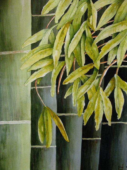 Green Bamboo - Al Burton Art