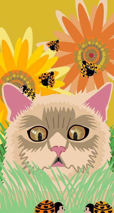 Too Many Ladybugs Pastel - Al Burton Art
