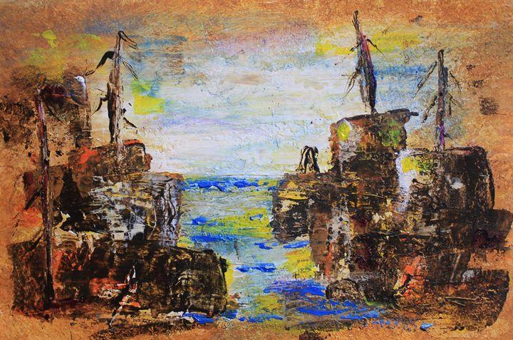 Rough Country Abstract - Al Burton Art
