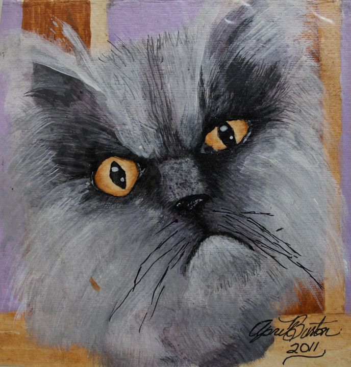 A Grumpy Cat Feb 2011 - Al Burton Art