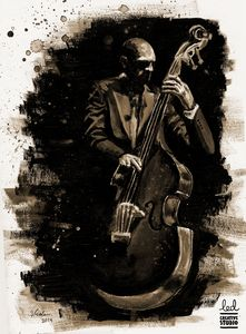 Double bass player - LED Creative Studio