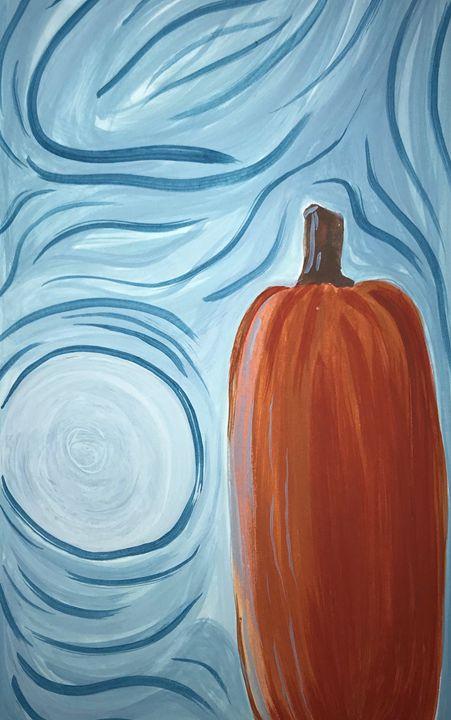 Moon beside pumpkin - George Anastos
