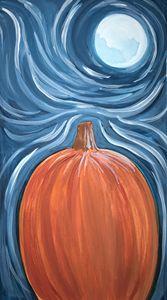 Moon over pumpkin