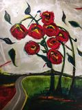 Original Acrylic Roses Road