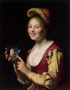Gerard van Honthorst Smiling Girl Ho