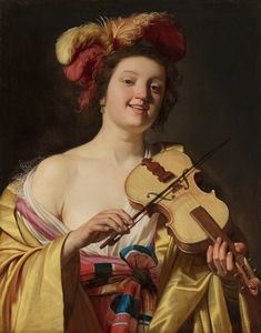 Gerard van Honthorst The Violin Play