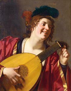Gerard van Honthorst A Woman Tuning