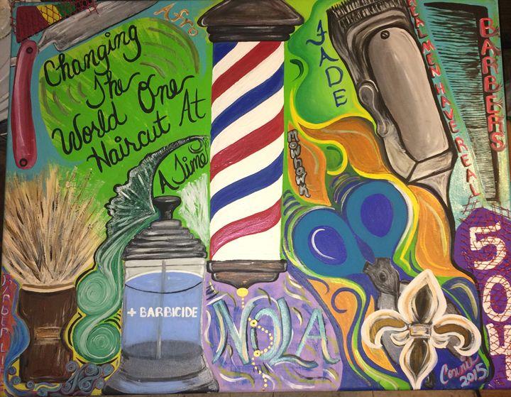 New Orleans Barbershop - Unique Urban Art