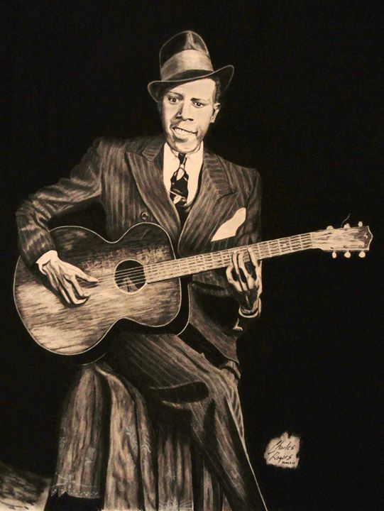 Blues Originator Robert Johnson - Native Texan Artistry/Charles Rogers
