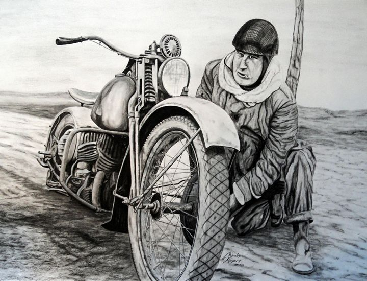 WWII Canadian Dispatch Rider - Native Texan Artistry/Charles Rogers