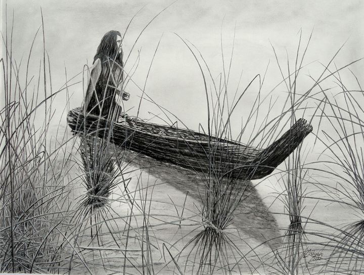 Canoe of Tules - Native Texan Artistry/Charles Rogers
