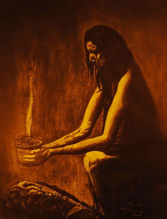 Incense Over Medicine Bundle - Native Texan Artistry/Charles Rogers