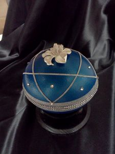 Ostrich Egg Jewelry Box (Blue) - EggxoticArts