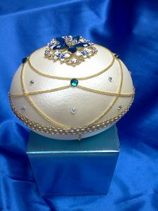 Ostrich Egg Jewelry Box (pearlized) - EggxoticArts
