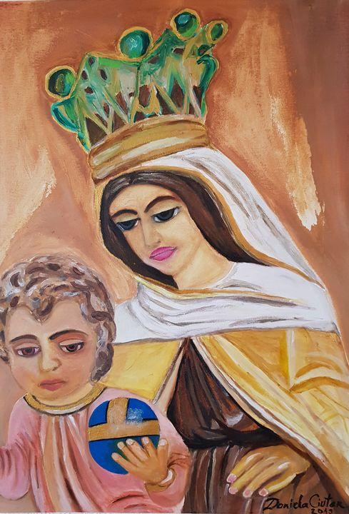 Virgin Mary and baby Jesus - Daniela Ciutan