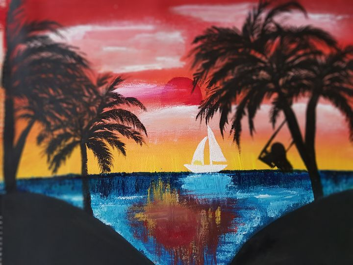 Sunset over the island - Daniela Ciutan