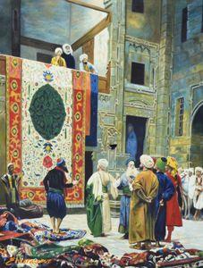 Ancient Arab Bazar Painting