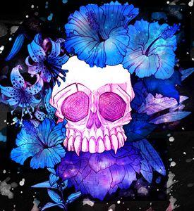 Flowered Skull