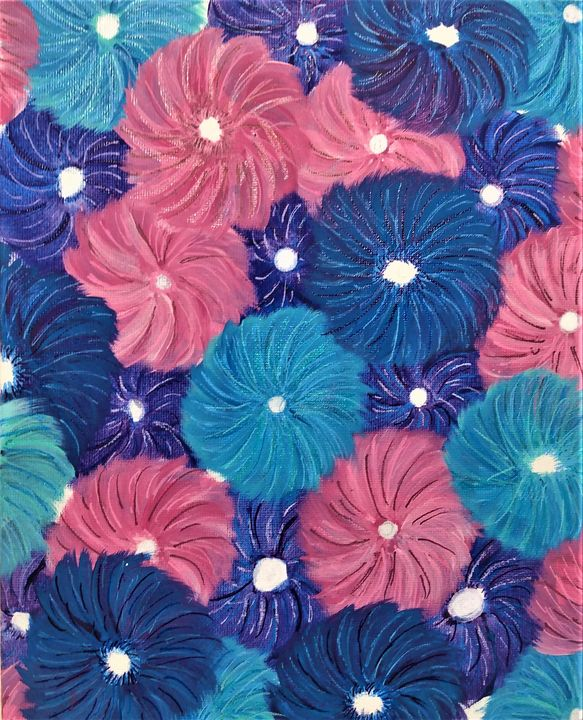 Layered Flower - Morgan's Painted Originals
