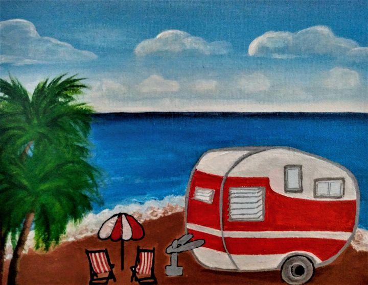 Camper on the Beach - Morgan's Painted Originals
