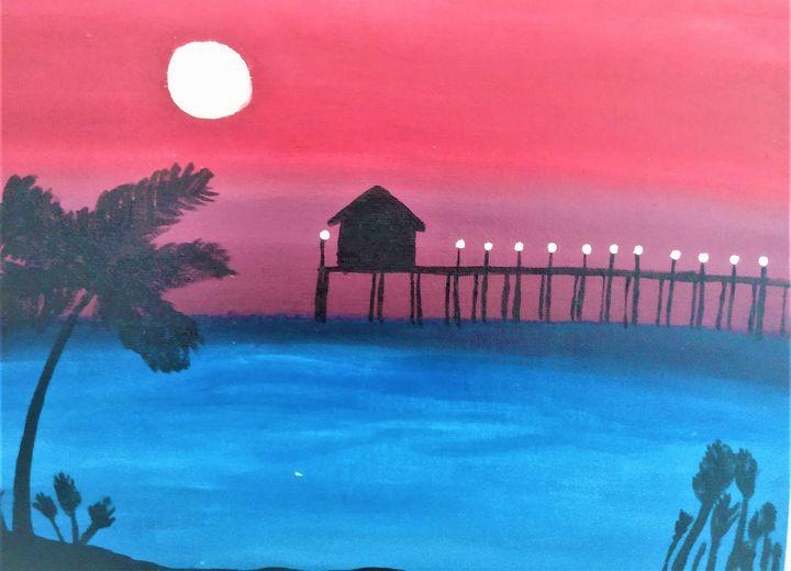 Evening beach view - Morgan's Painted Originals