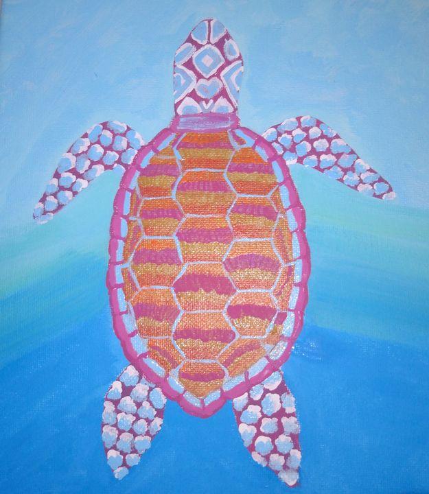 Sea turtle - Morgan's Painted Originals