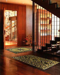 Wood parquet mosaic carpet