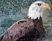 Eagle head mosaic - Mosaic Marble gallery