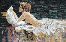 Woman in bed - Mosaic Marble gallery