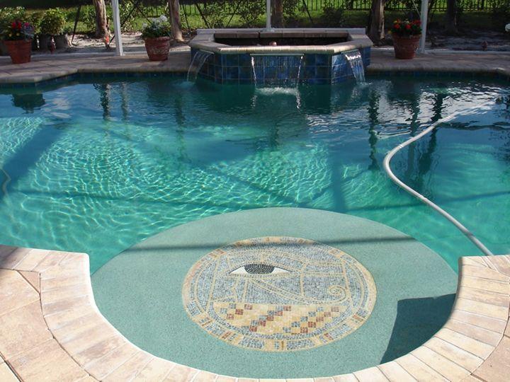 Pool Eye Mosaic - Mosaic Marble gallery