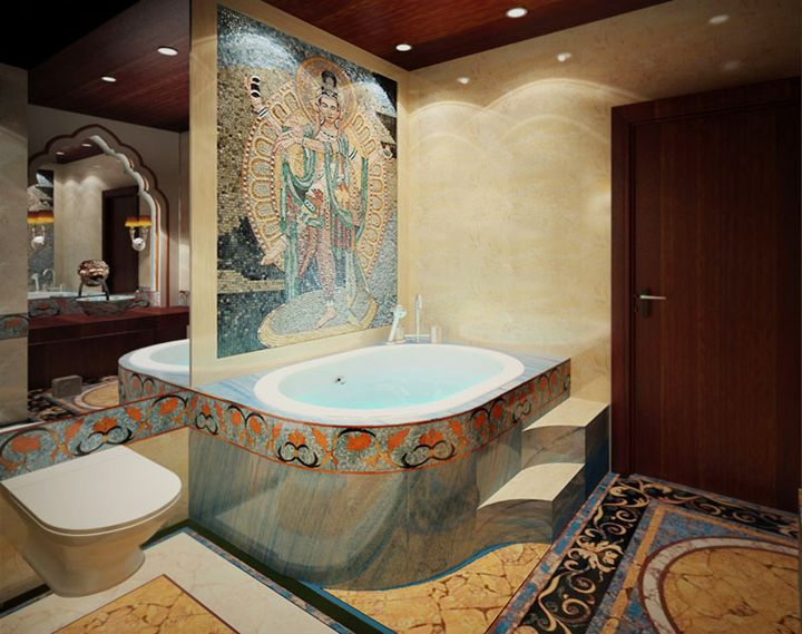 Indian style bathroom - Mosaic Marble gallery