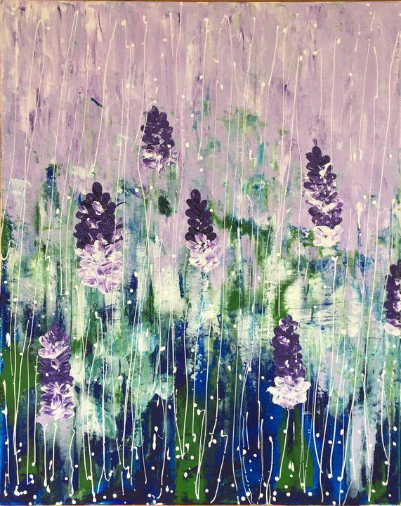 Purple rain - Adnana Art