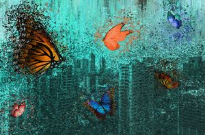 Butterflies over the City