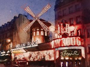 Paris. Moulin Rouge.