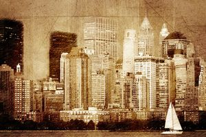 Vintage skyline of New York