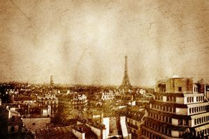Vintage skyline of Paris