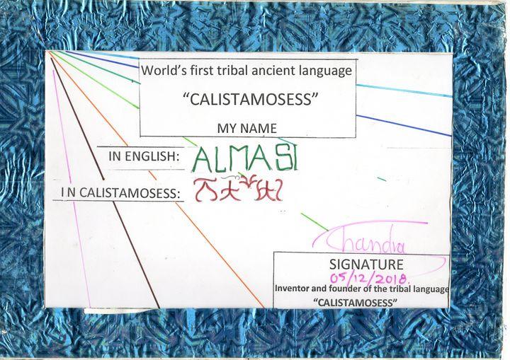 ISLAM NAME ALMASI in CALISTAMOSESS - CALISTAMOSESS
