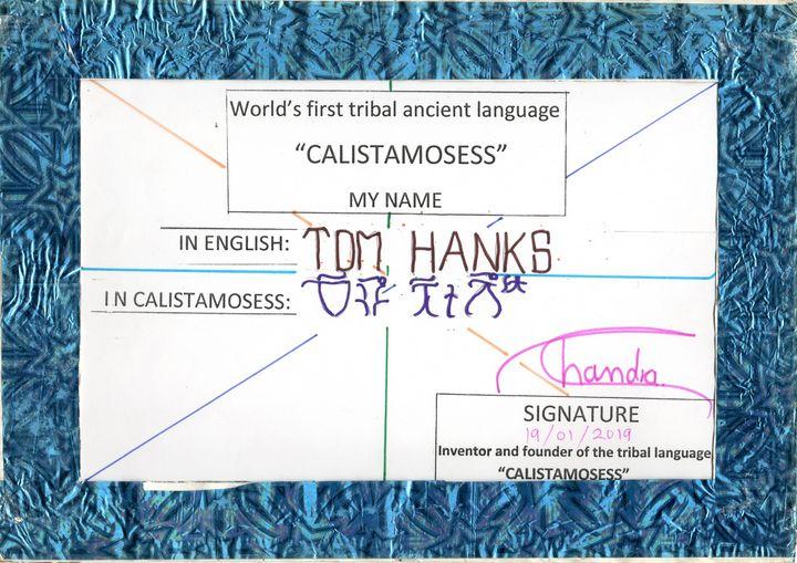 TOM HANKS in CALISTAMOSESS - CALISTAMOSESS
