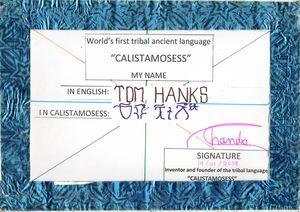 TOM HANKS in CALISTAMOSESS
